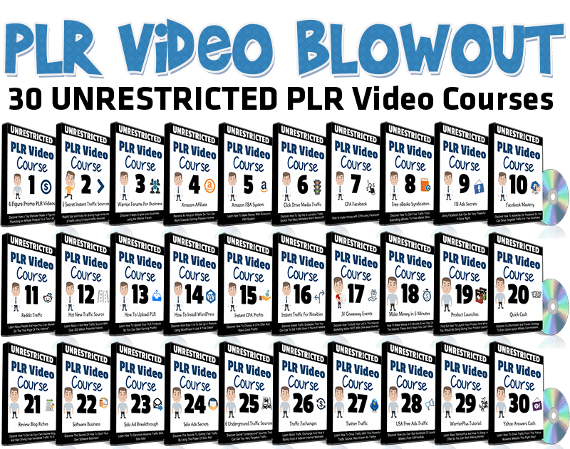 30 PLR Video Pack