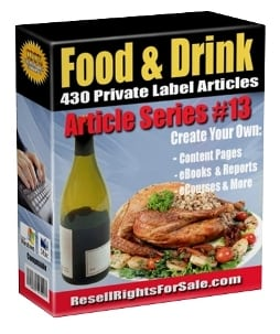 430 Food & Drink Private Label Rights Articles